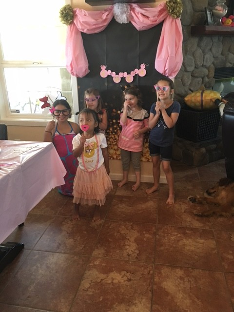 Lucy and her friends at her 4th birthday party