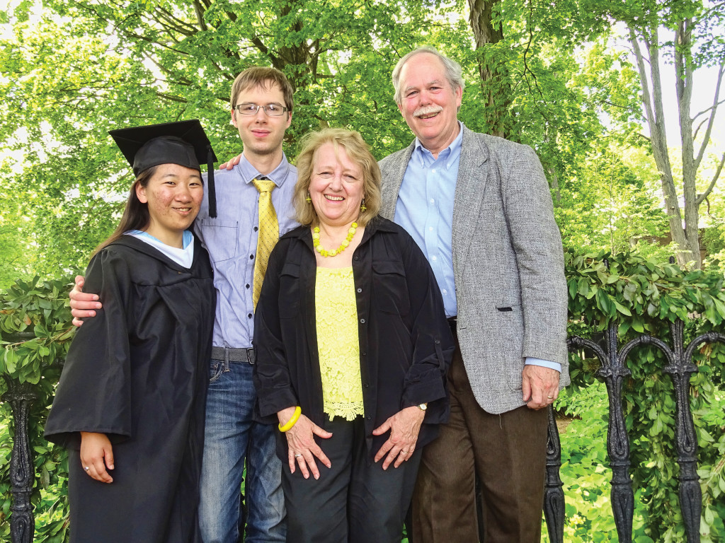Lydia with her family on graduation day