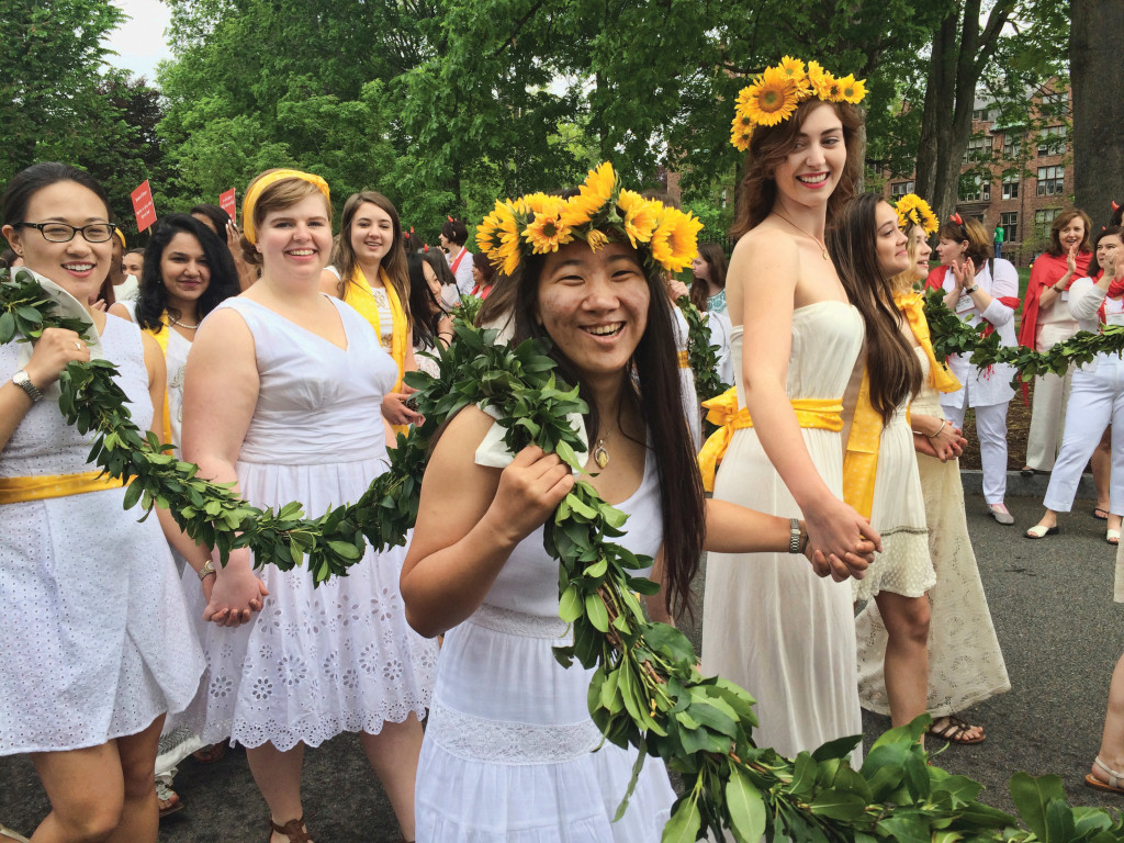 Participating in the Laurel Parade, a traditional procession at Mount Holyoke College