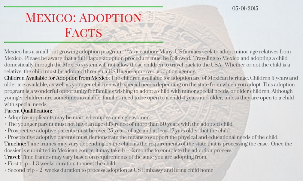 Mexico_ Adoption Facts
