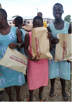 Distributing menstrual pads