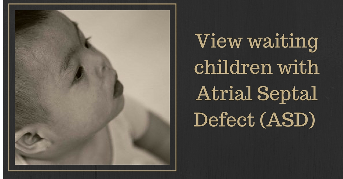 View waiting children with Atrial Septal Defect (ASD)
