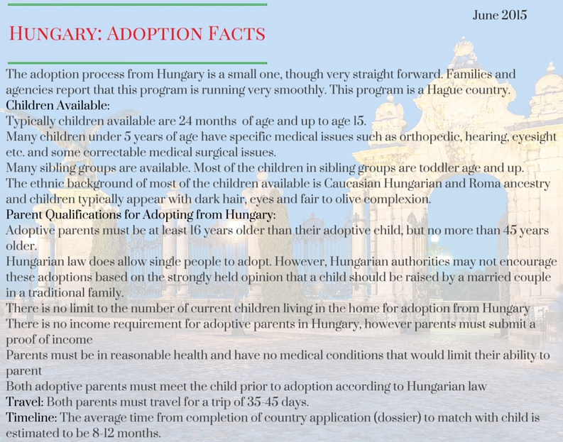 The adoption process from Hungary is a-2
